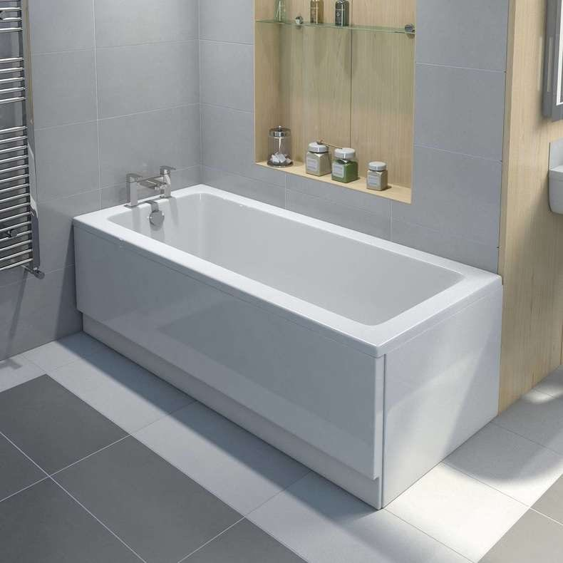 Eden Square Edge Single Ended Bath