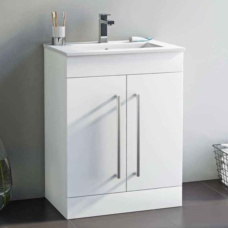 Chamonix vanity door unit and basin 600mm
