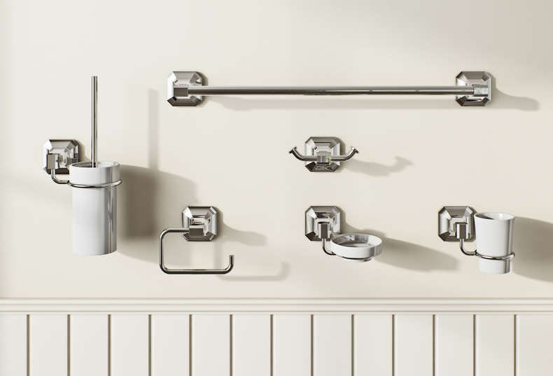 Camberley bathroom accessory range