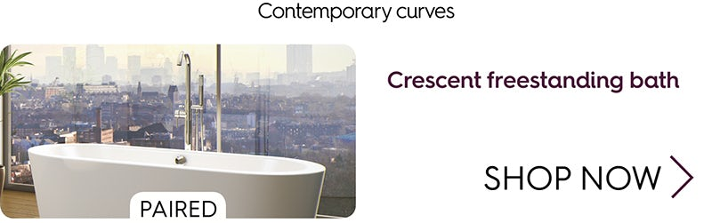 Crescent freestanding bath