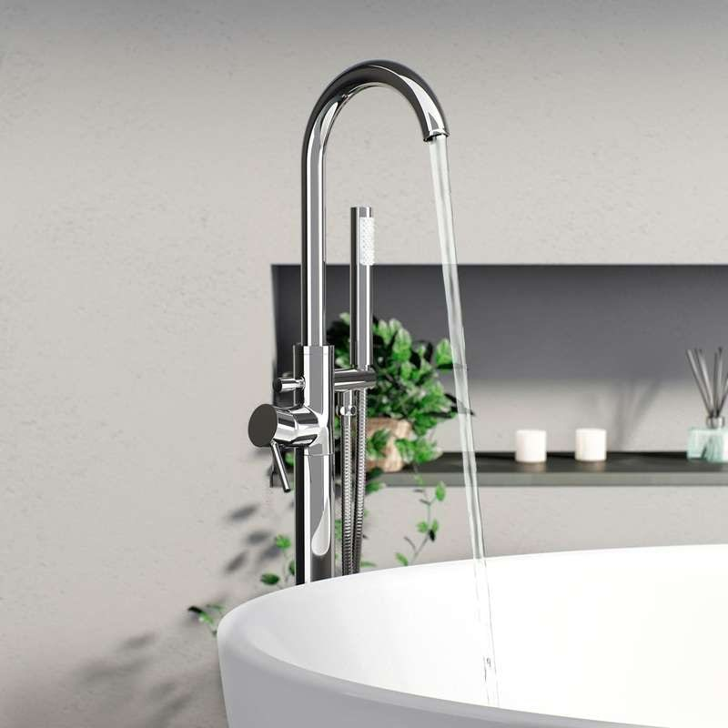 Matrix freestanding bath filler tap