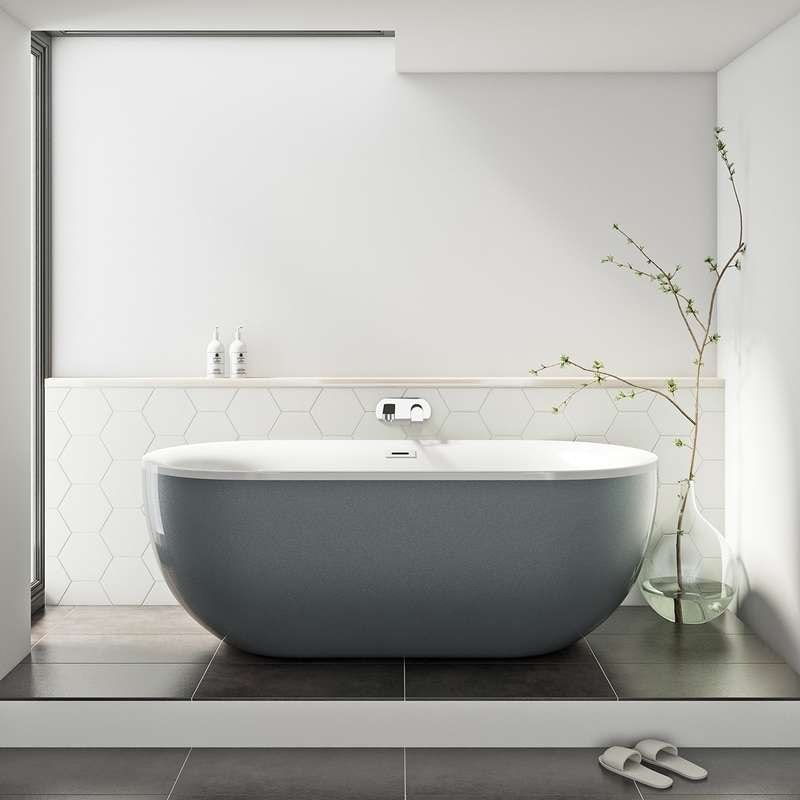 Mode Ellis storm coloured freestanding bath