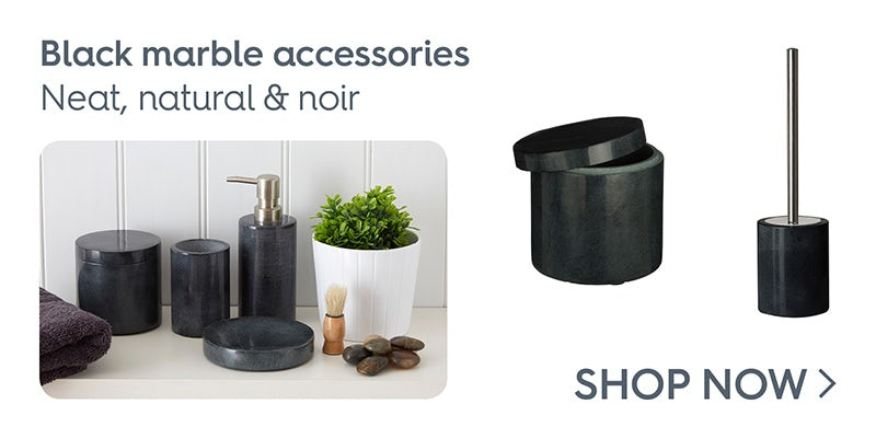 Black marble accessories