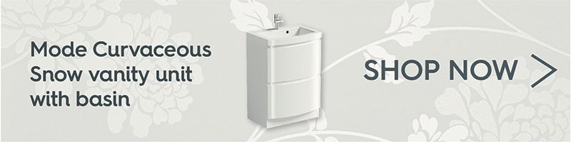 Mode Curvaceous snow vanity unit with basin 600mm