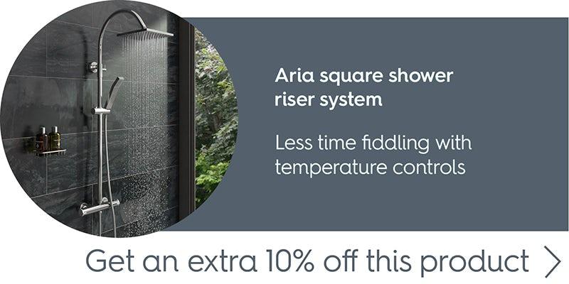 Aria square shower riser system
