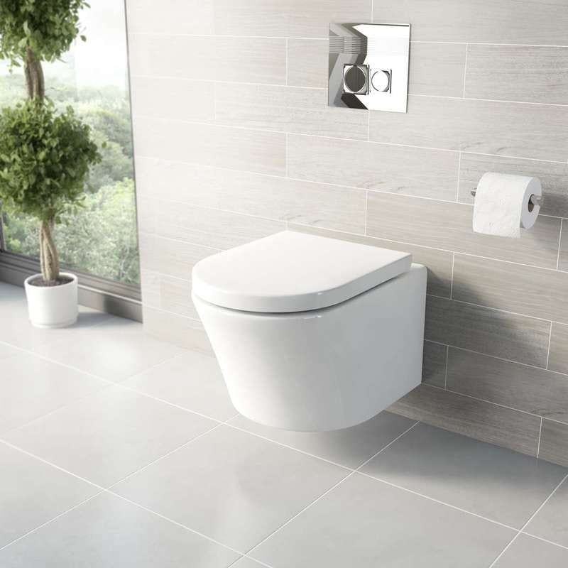 Mode Arte wall hung toilet with luxury toilet seat and wall hanging frame