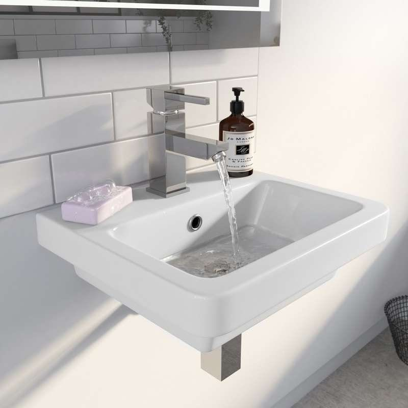 Verso wall hung basin 400mm