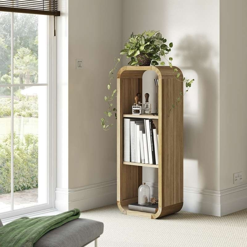 Reeves Oscar oak small shelving unit