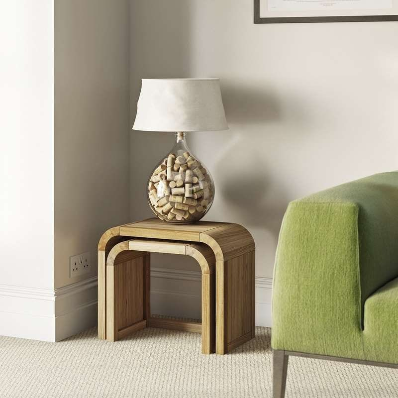 Reeves Oscar oak nest of small tables