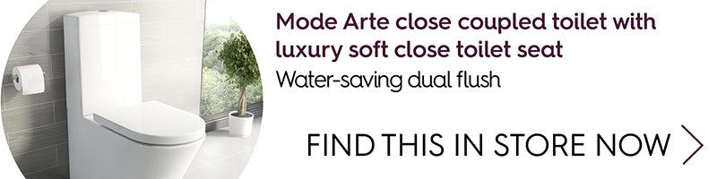 Mode Arte close coupled toilet with luxury soft close toilet seat