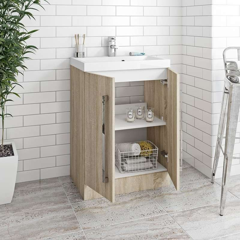 Arden Oak Vanity Unit 600mm With Basin