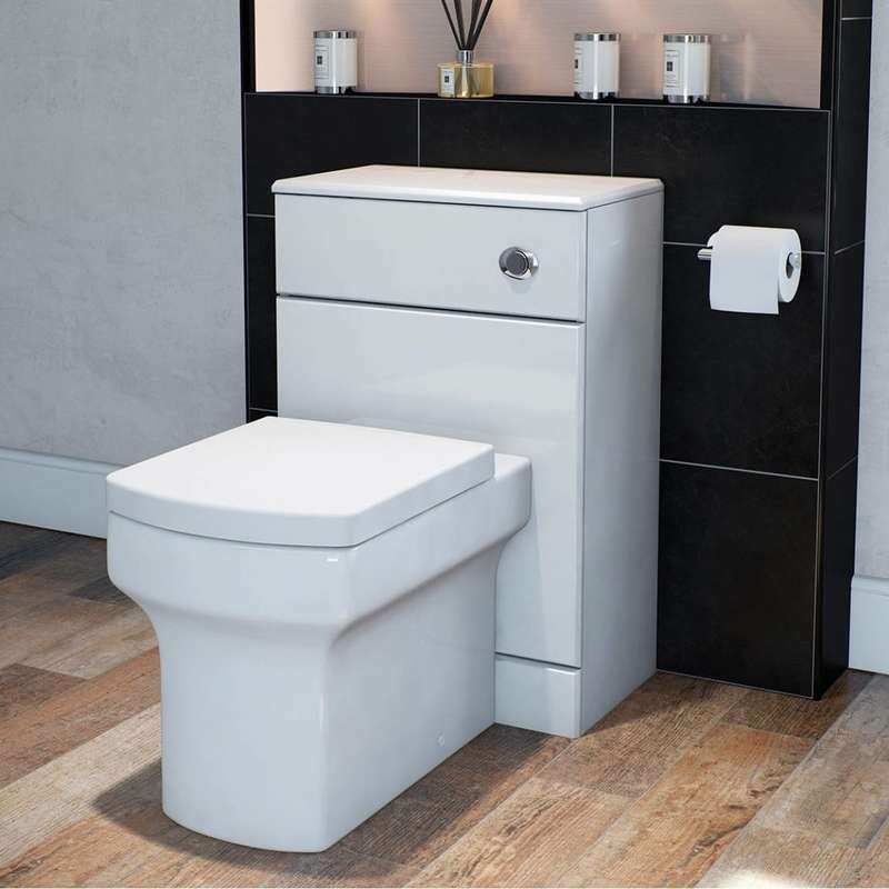Wye back to wall toilet with soft close toilet seat