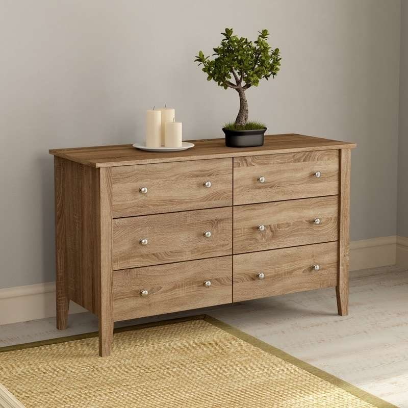 Sydney oak 3 + 3 drawer chest