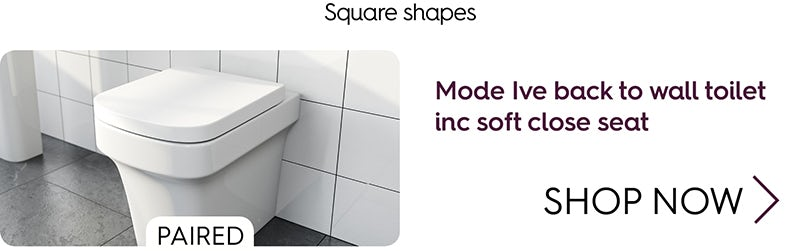 Mode Carter back to wall toilet inc soft close seat