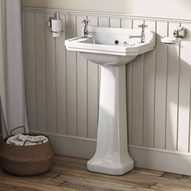 Camberley 2 tap hole full pedestal basin 500mm
