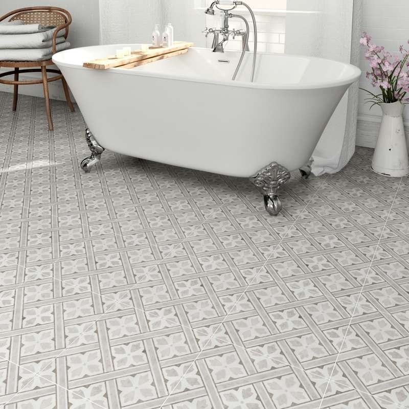 Laura Ashley Mr Jones charcoal tile 331mm x 331mm