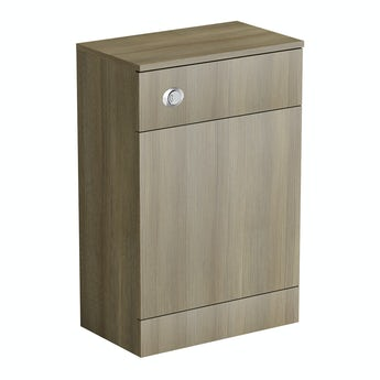 Drift walnut back to wall toilet unit