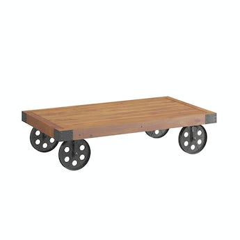 Reeves Sawyer wheeled coffee table
