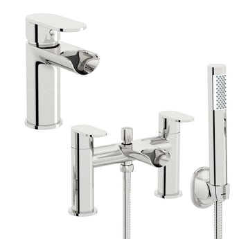 Mode Keswick basin and bath shower mixer tap pack