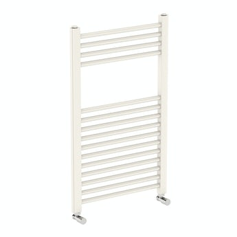 Round white heated towel rail 800 x 490 offer pack