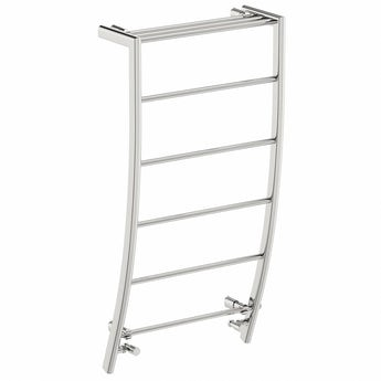 Chrome curved heated towel rail 1200 x 600 offer pack