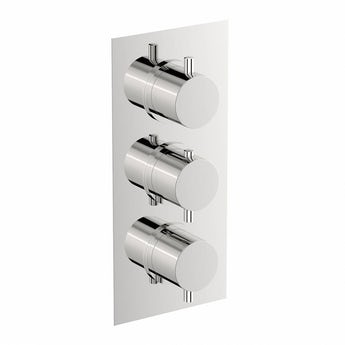 Matrix square triple thermostatic shower valve offer pack
