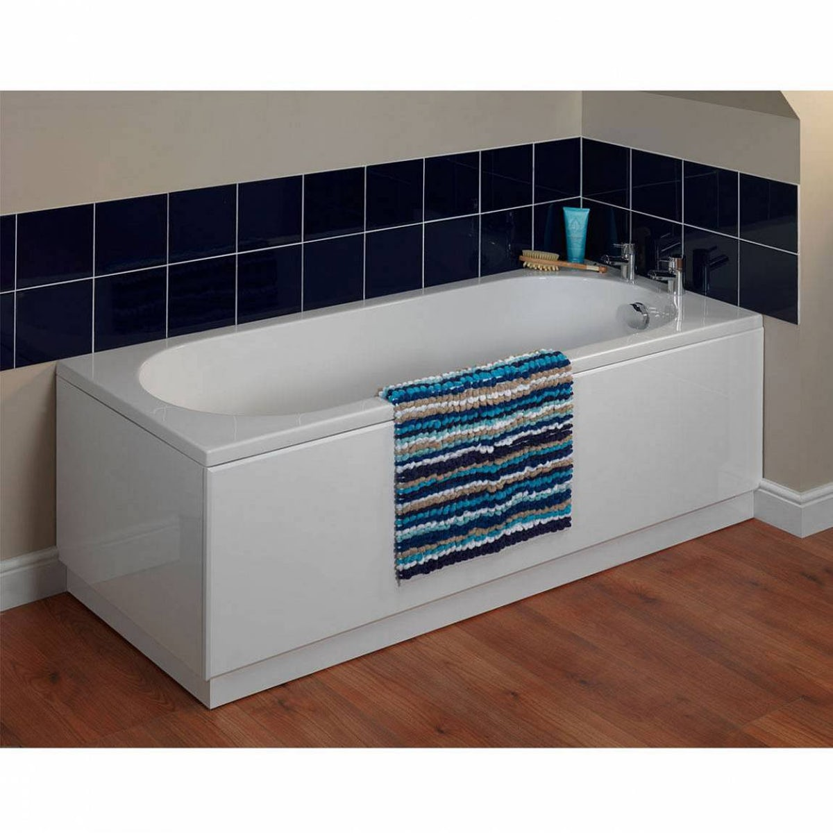 White wooden straight bath panel pack 1800 x 800 for Bath 1800