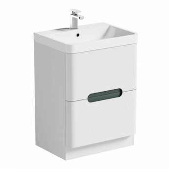Mode Planet select slate vanity drawer unit and basin 600mm