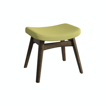 Sloane walnut and green footstool
