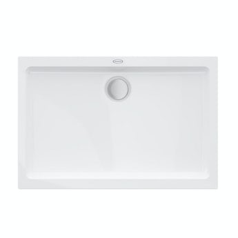 Jacuzzi Essentials matt white acrylic shower tray 1400 x 900