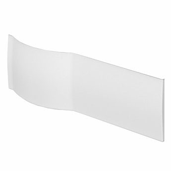 P shaped shower bath acrylic front panel 1675mm