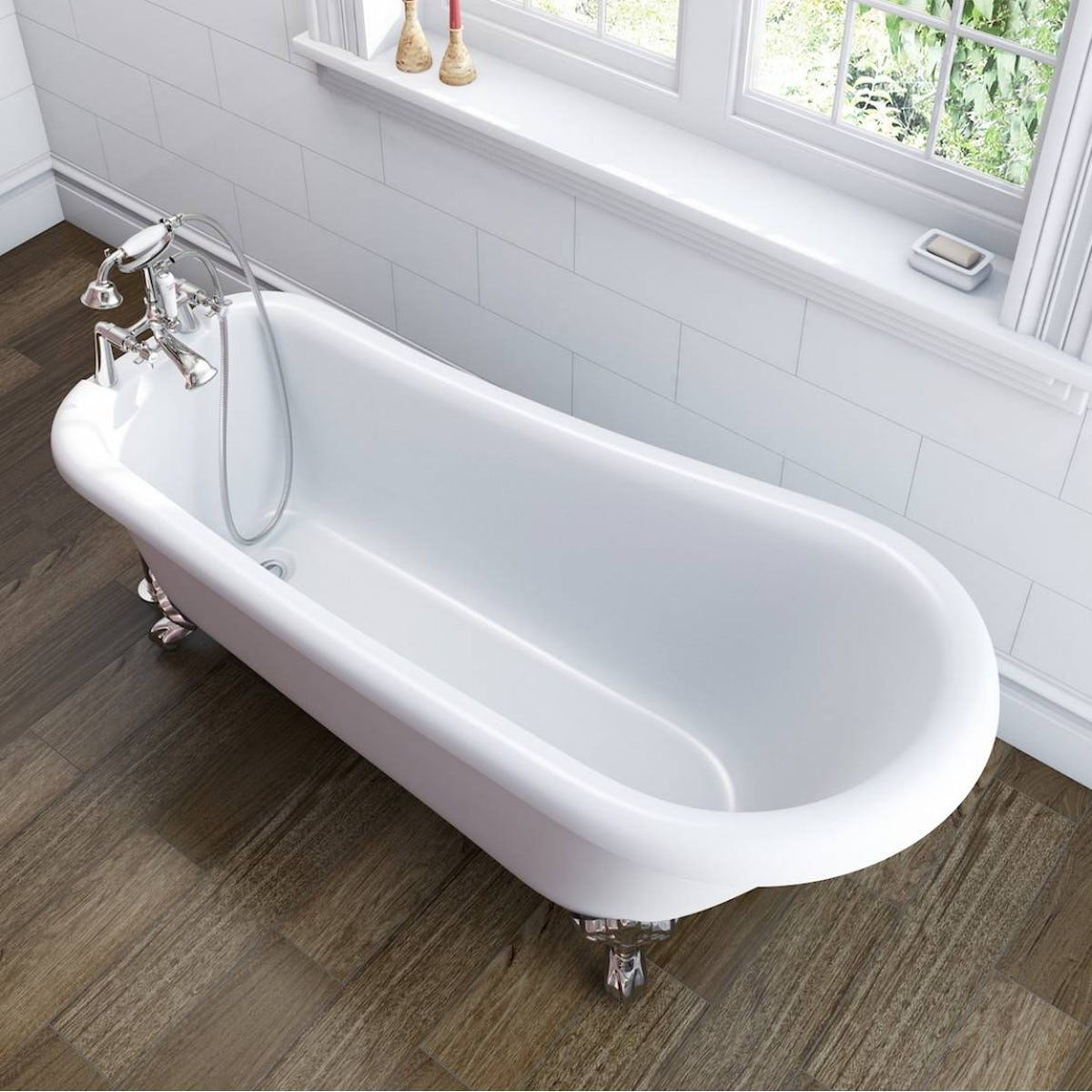 Winchester single ended slipper bath small special offer for Small baths 1200