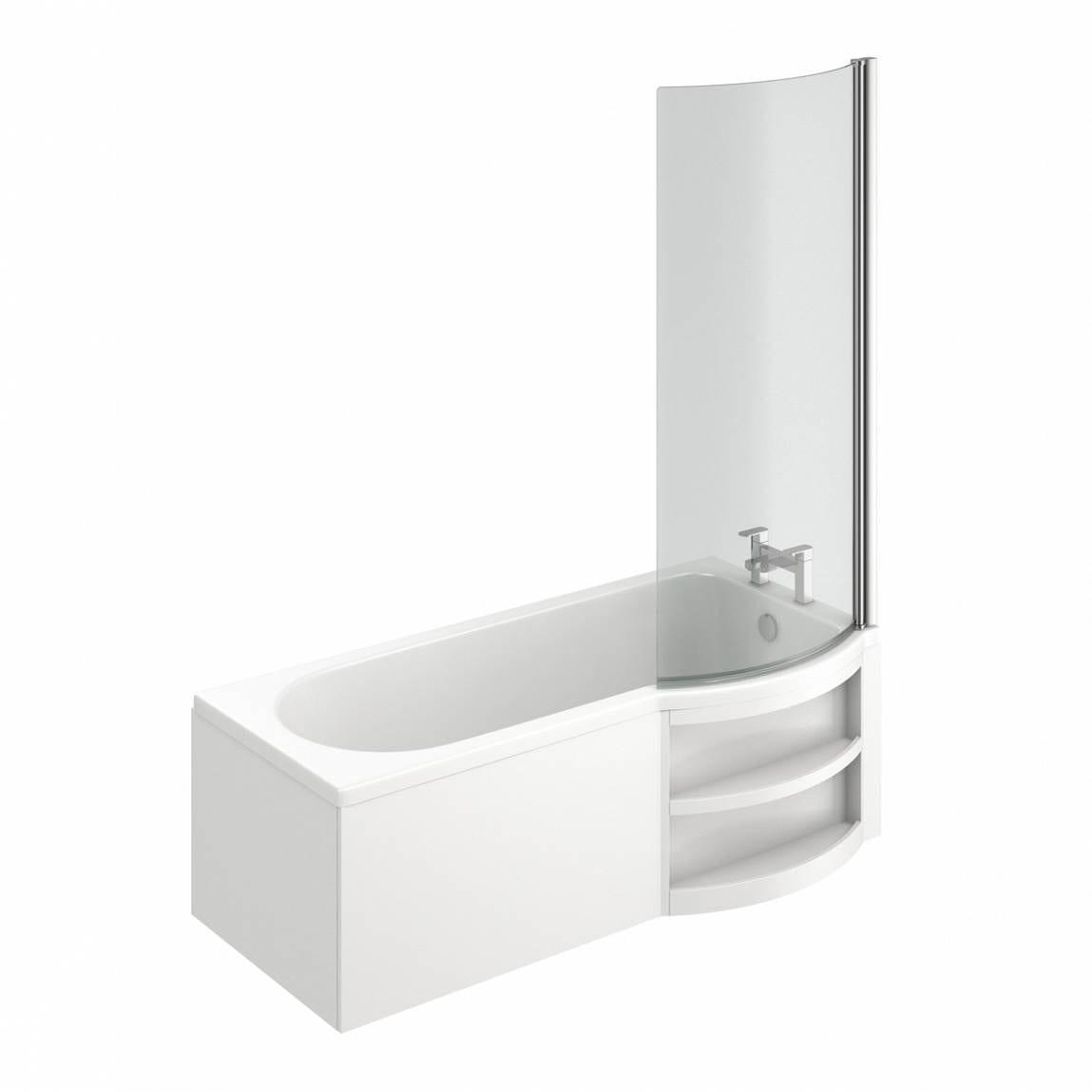 Myspace Water Saving Shape Shower Bath Right Hand