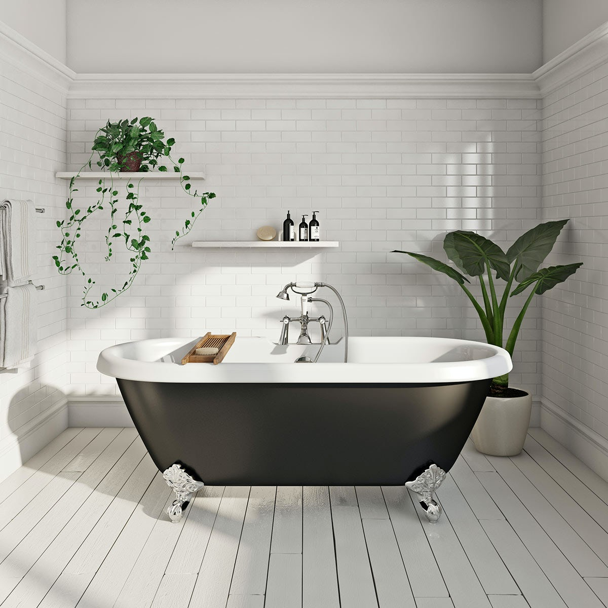 The bath co shakespeare traditional roll top bath with for The best bathtubs