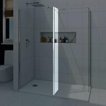 Mode luxury 8mm wet room glass return panel 300mm