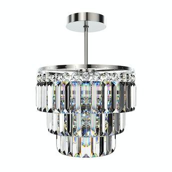 Lucille semi flush bathroom chandelier