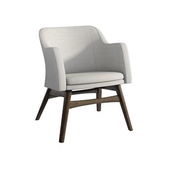 Sloane walnut and grey armchair