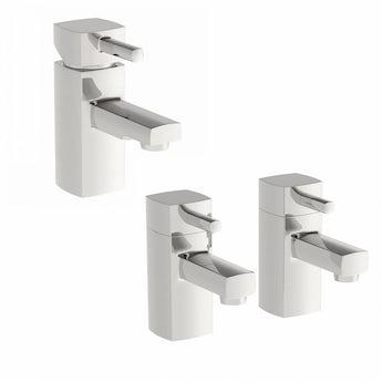Osca basin mixer and bath tap pack
