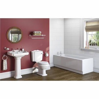 Winchester bathroom suite with Kensington straight bath 1700 x 700