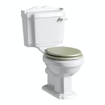 Winchester close coupled toilet inc sage soft close seat