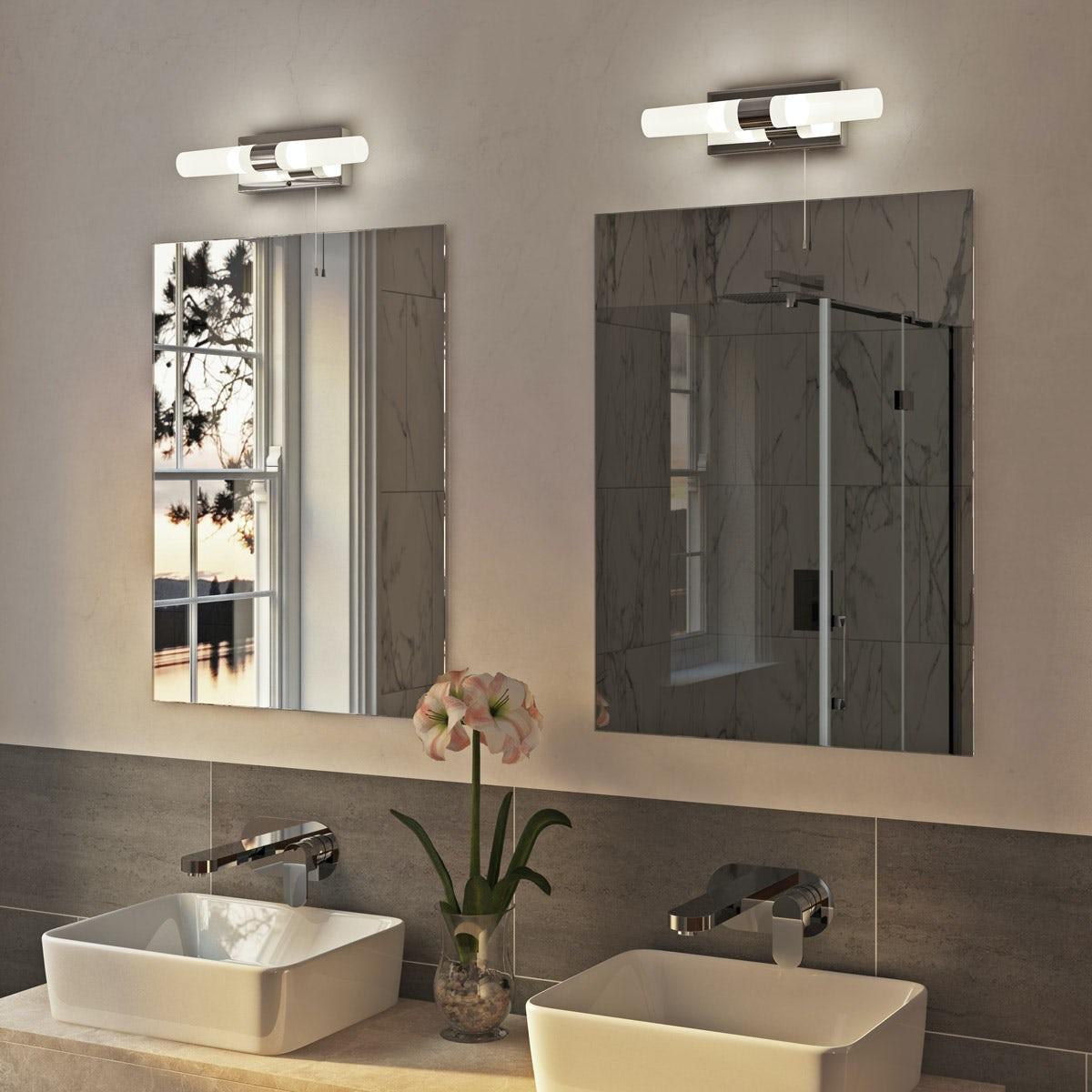 Arinna 3 light over mirror bathroom light for Above mirror bathroom light
