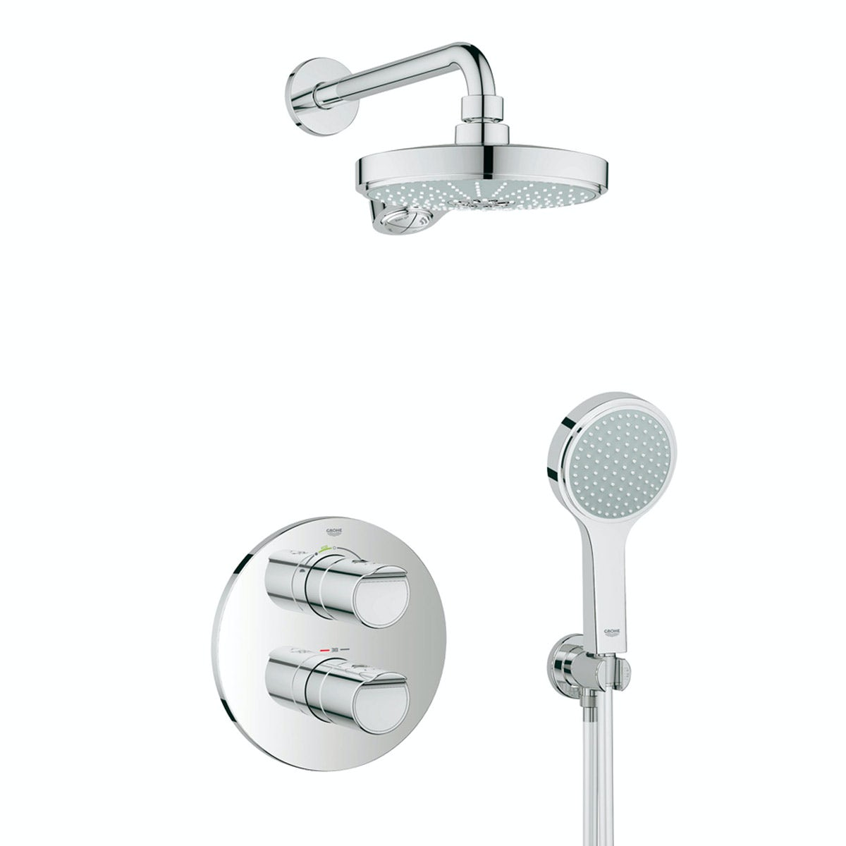 grohe grohtherm 2000 concealed thermostatic shower set. Black Bedroom Furniture Sets. Home Design Ideas