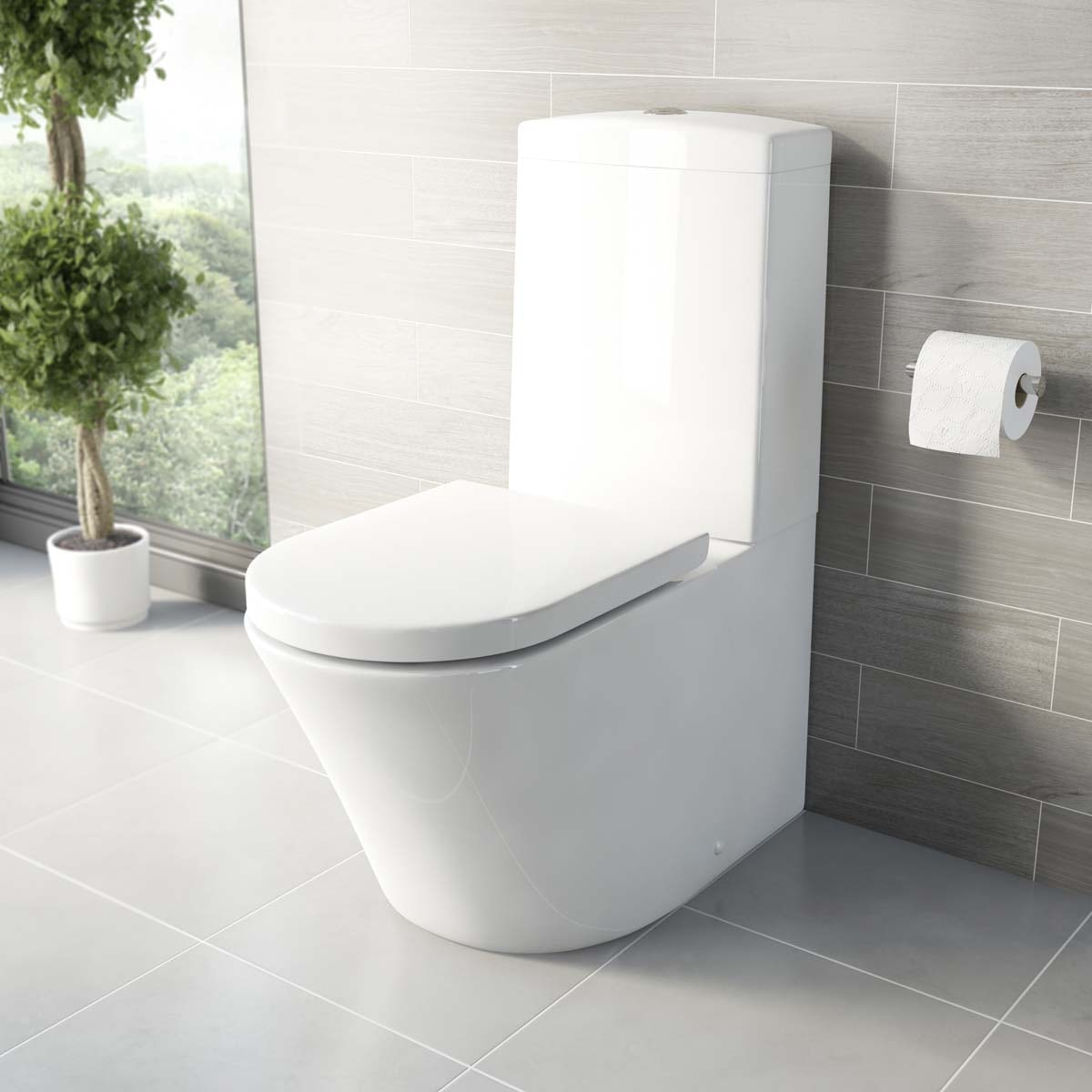 mode arte close coupled toilet with luxury soft close. Black Bedroom Furniture Sets. Home Design Ideas