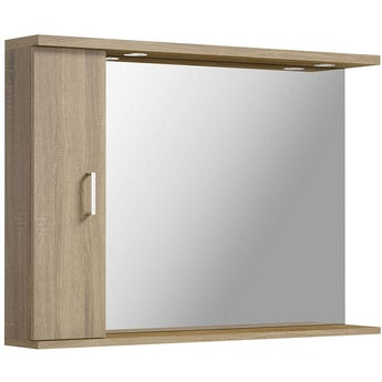 Sienna oak bathroom furniture for Oak bathroom light fixtures