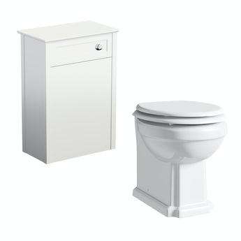 The Bath Co. Camberley white back to wall toilet unit and Winchester back to wall toilet