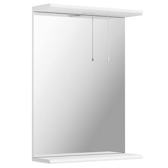 Sienna white bathroom mirror with lights 550mm
