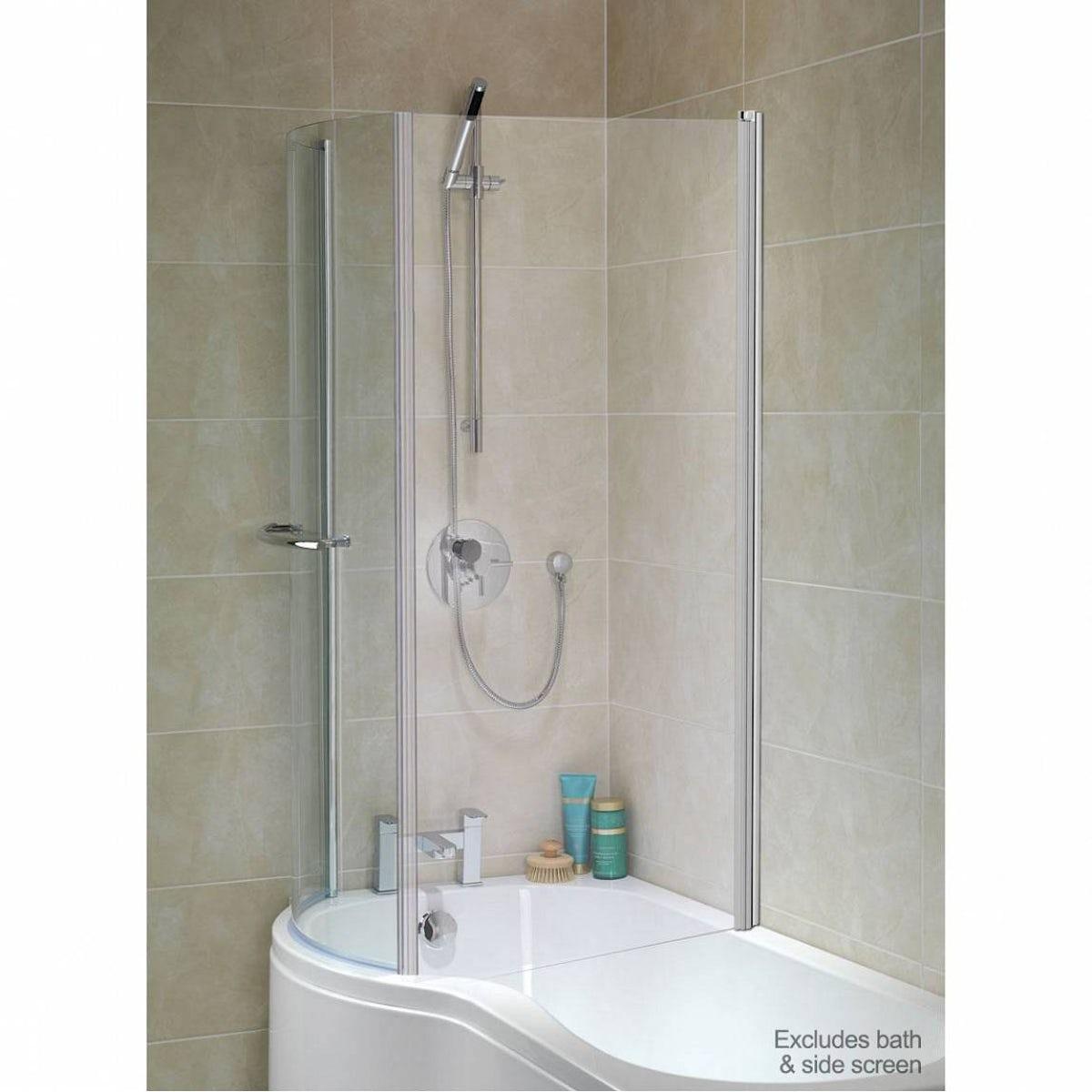 Shower Screen For P Shaped Bath 6mm Glass Door For P Shaped Shower Bath Victoriaplum Com