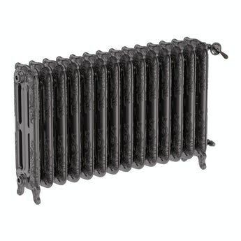Terma Oxford raw metal freestanding cast iron radiator 710 x 1180