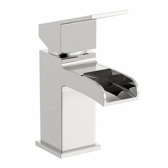 Escala waterfall basin mixer tap offer pack