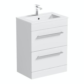 Chamonix vanity drawer unit and basin 600mm